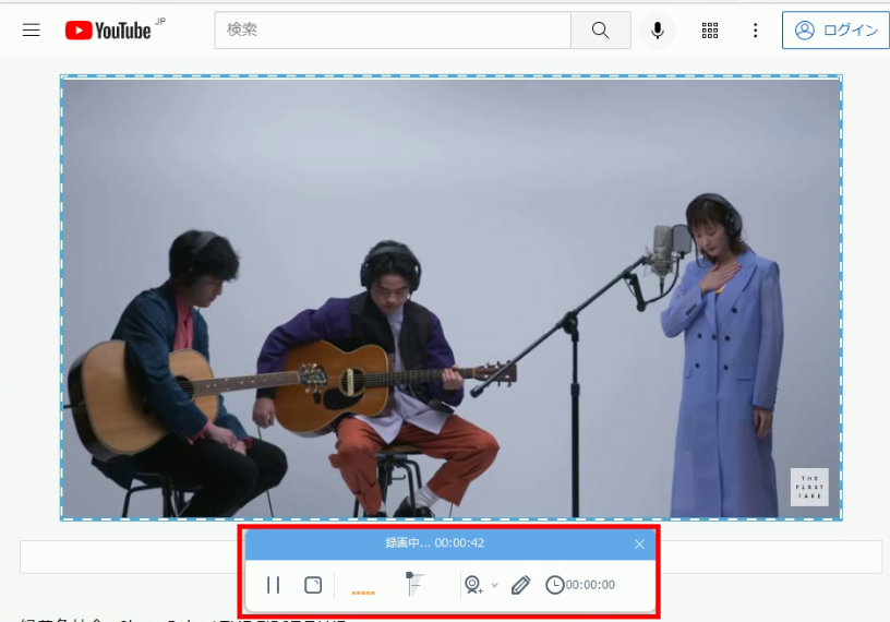 save the first take video, start record