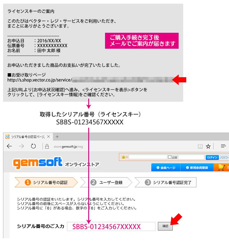 Q. Vectorで購入後、取得したライセンスキーで製品登録ができない