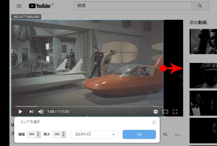 TIPS. ZEUS RECORDで、Web動画を録画する~範囲選択編: 選択したエリアを修正