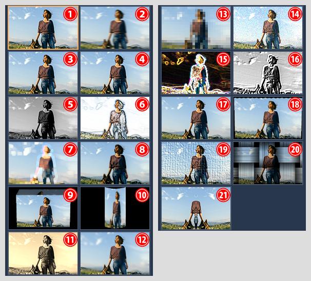 TIPS. Video to BD/DVD X で動画に効果を加える:効果の種類